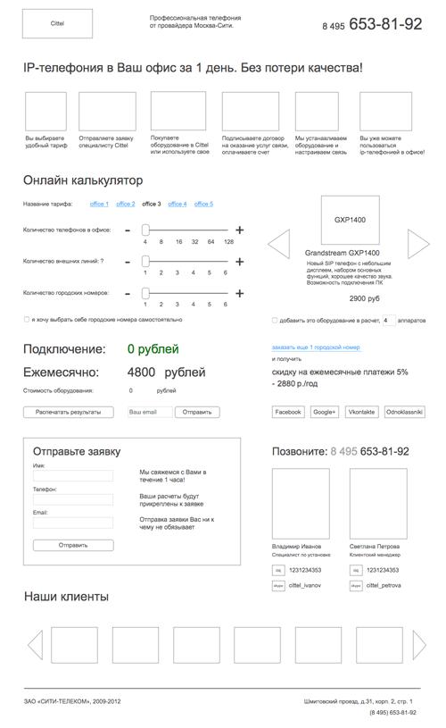 Посадочная страница по IP-телефонии